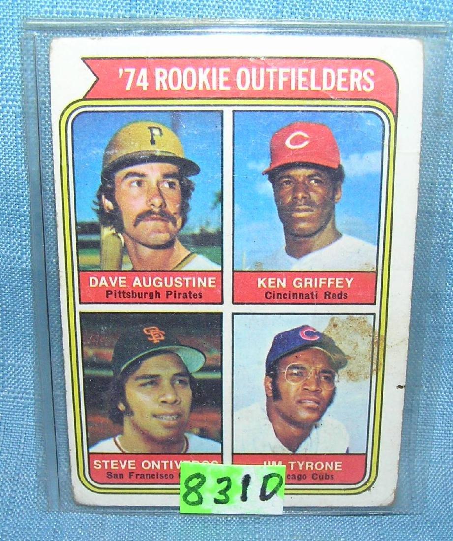 Ken Griffey Sr. rookie baseball card