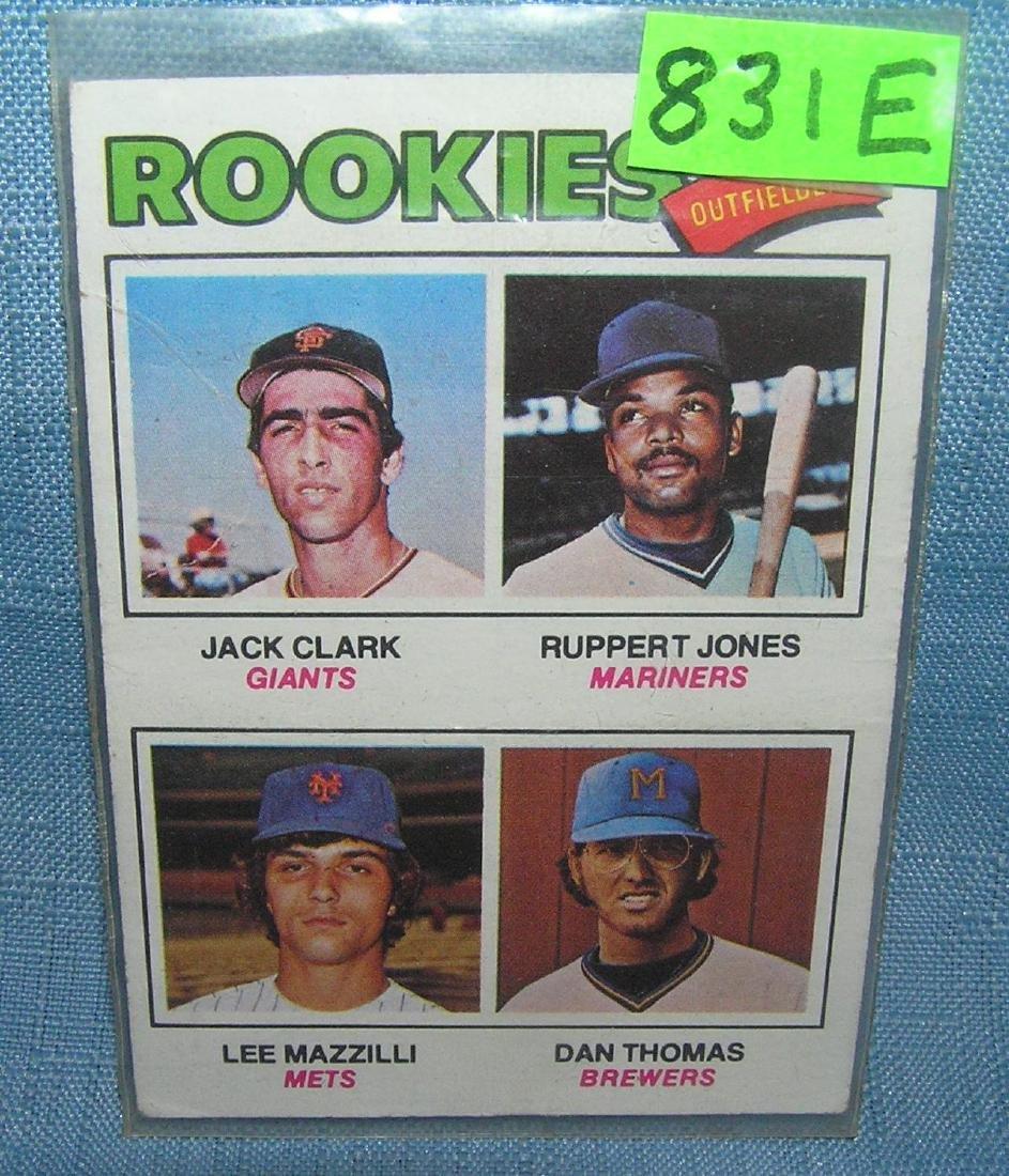 Lee Mazzilli, Jack Clark and Rupert Jones rookie