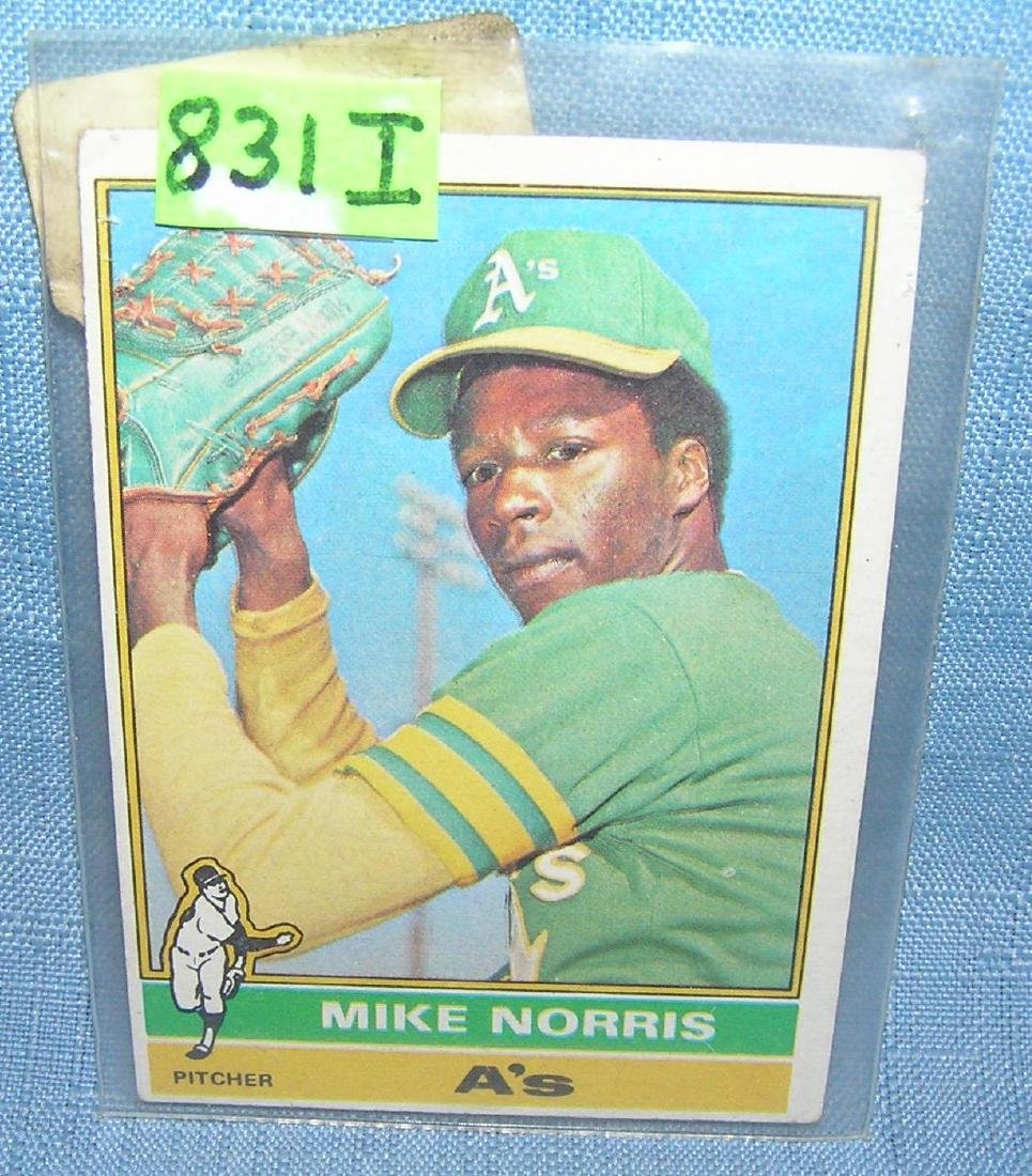 Mike Norris rookie baseball card