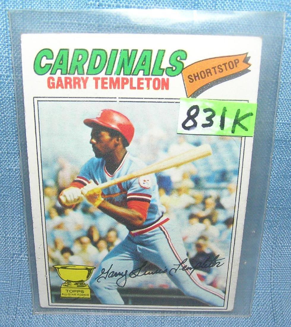 Gary Templeton rookie baseball card