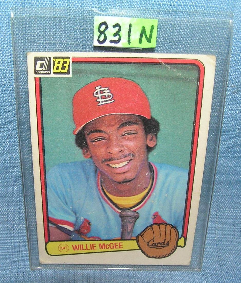 Willie McGee rookie baseball card