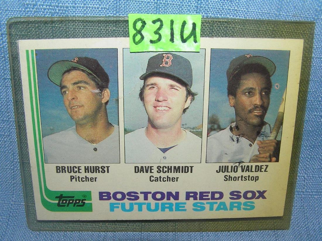 Bruce Hurst rookie baseball card
