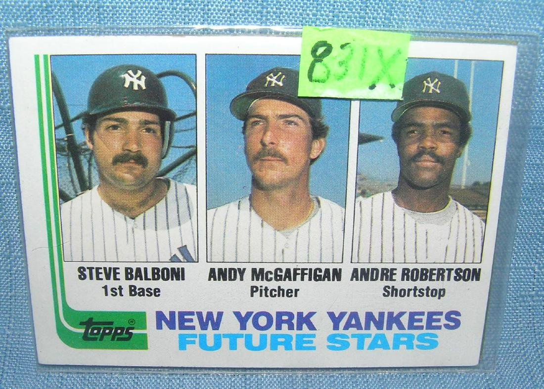Steve Balboni rookie baseball card