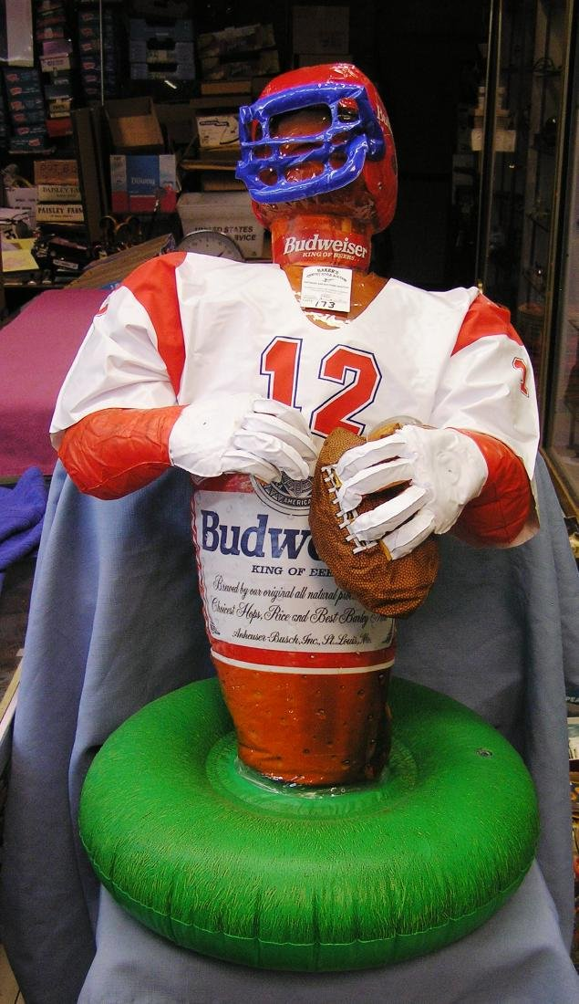 Budweiser football player store display