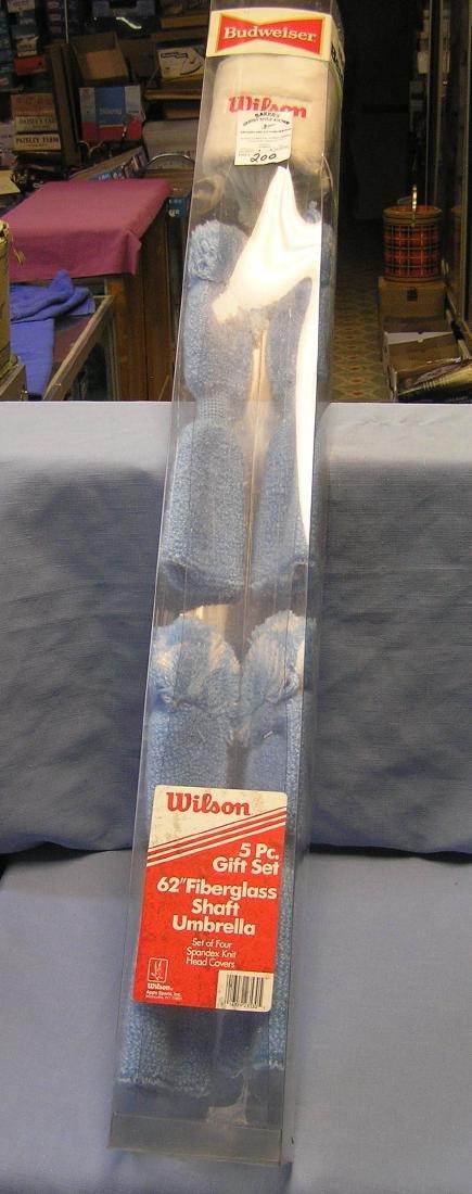 Budweiser Wilson brand golfing head covers