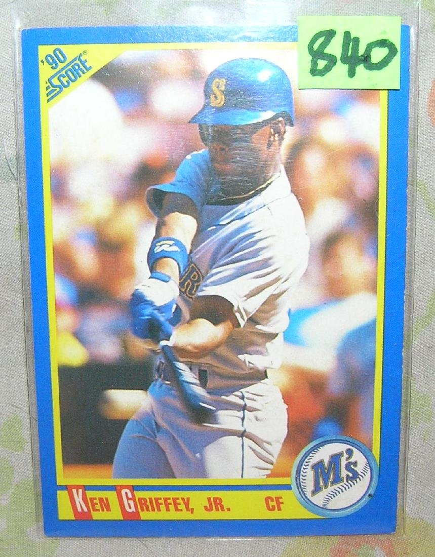 Vintage Ken Griffey Jr. rookie baseball card