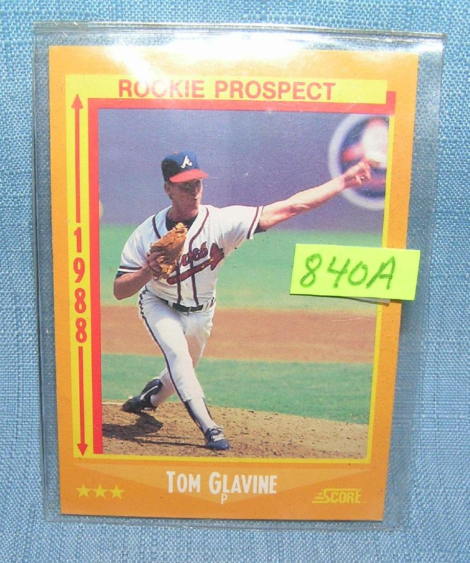 Vintage Tom Glavine rookie baseball card