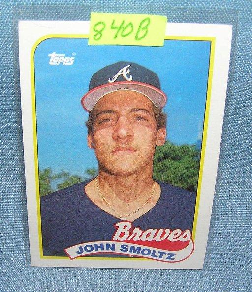 Vintage John Smoltz Rookie Baseball Card Apr 30 2018