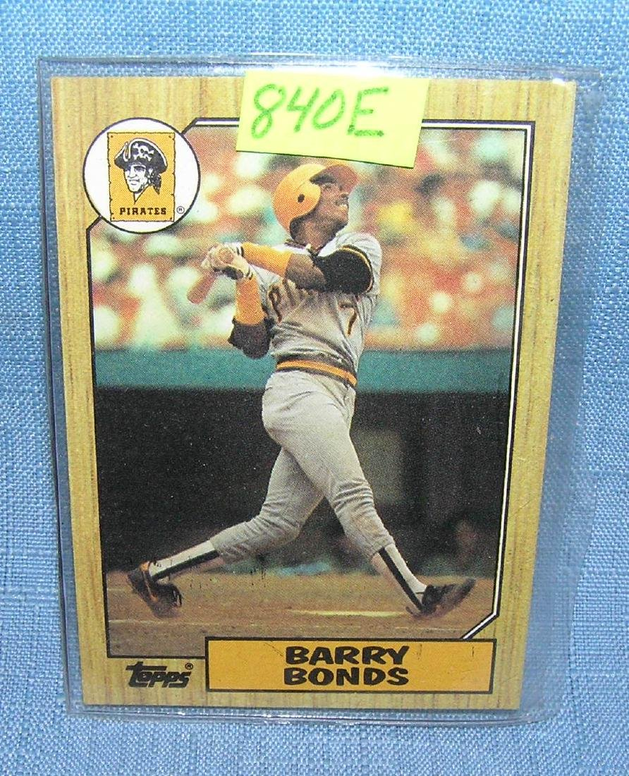 Vintage Barry Bonds rookie baseball card