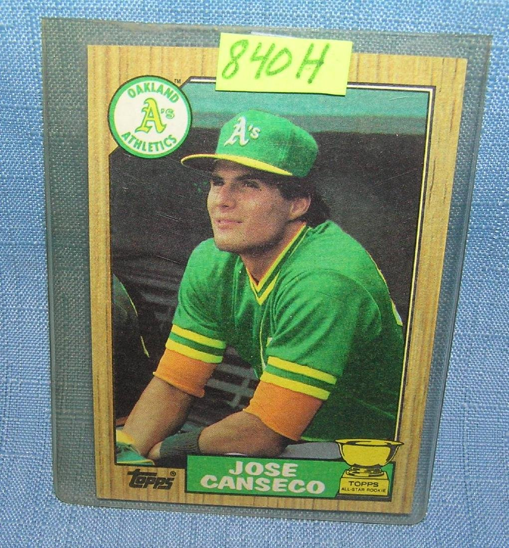 Vintage Jose Canseco rookie baseball card