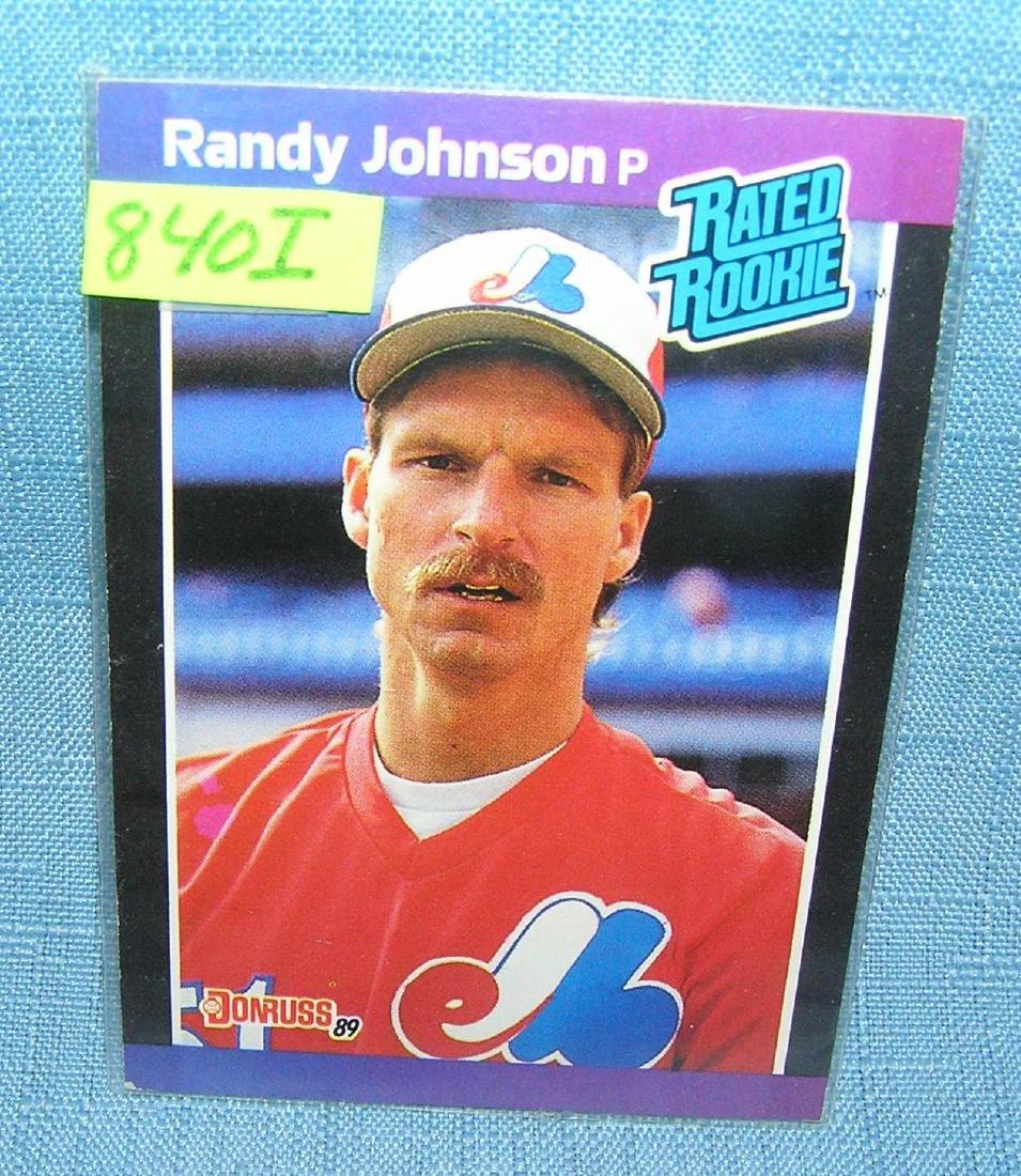 Vintage Randy Johnson rookie baseball card