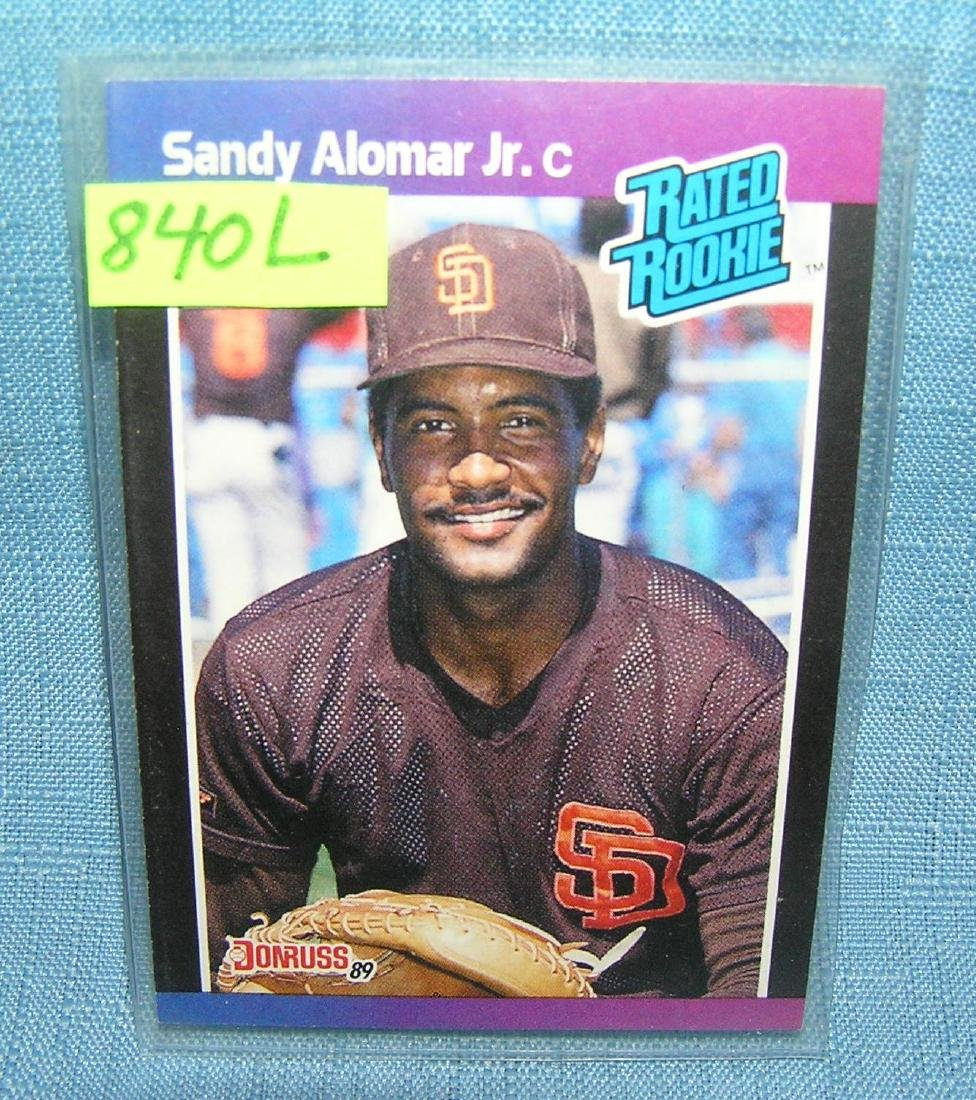 Vintage Sandy Alomar Jr. rookie baseball card