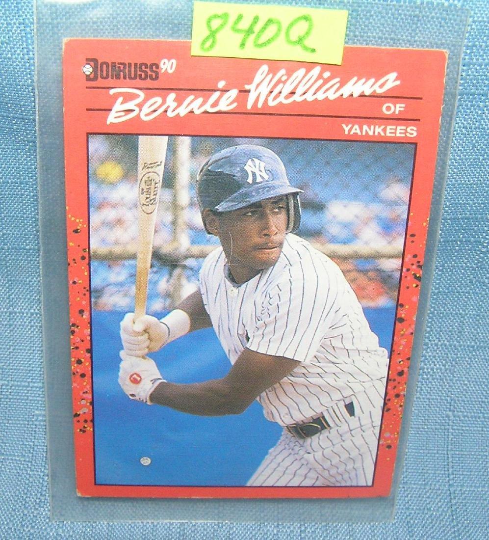 Vintage Bernie Williams rookie baseball card