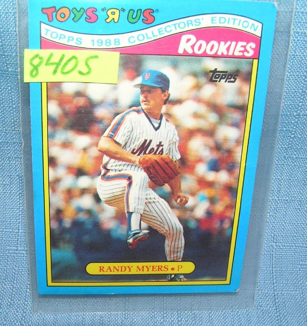 Vintage Randy Myers rookie baseball card