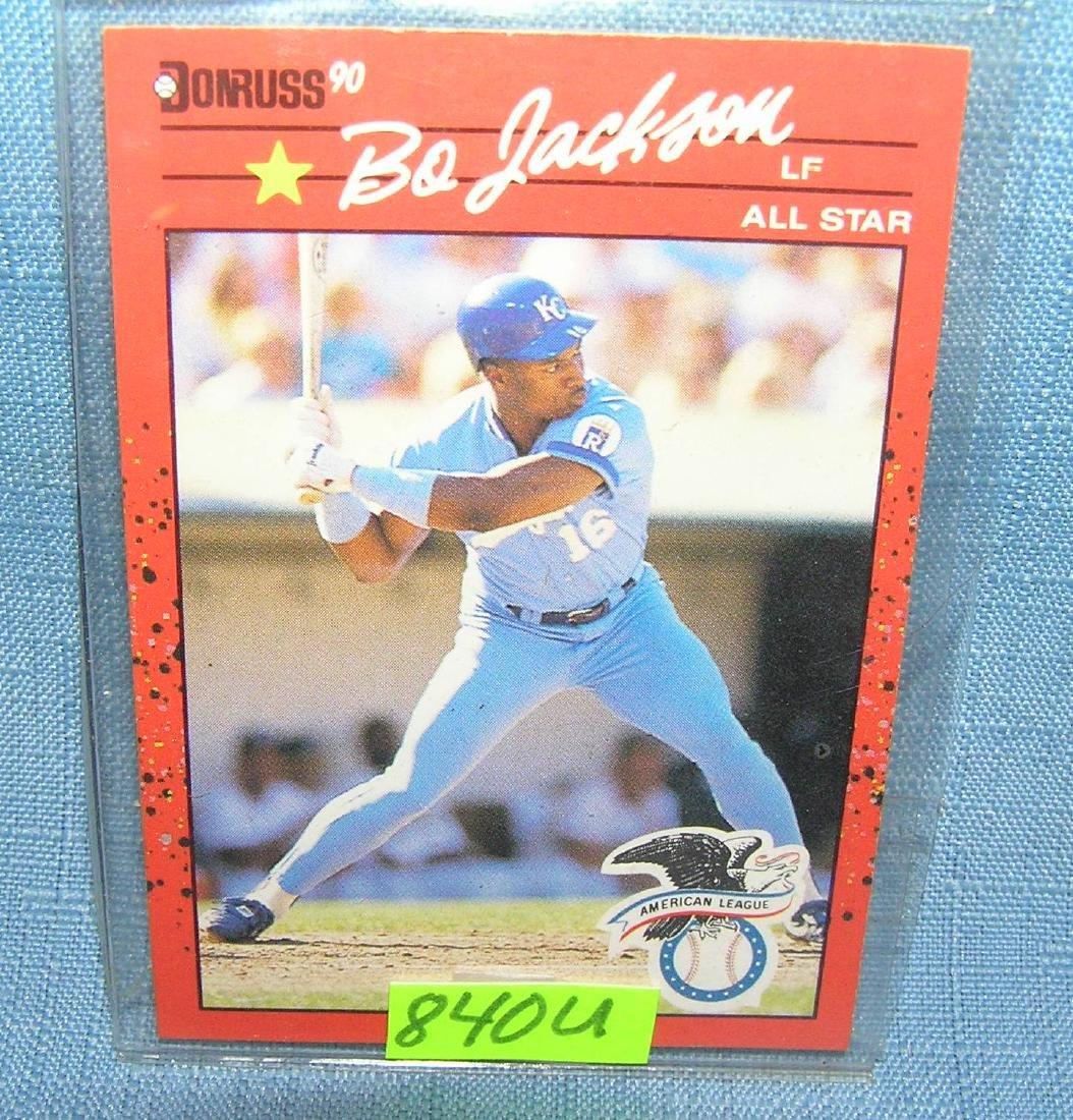 Vintage Bo Jackson rookie baseball card