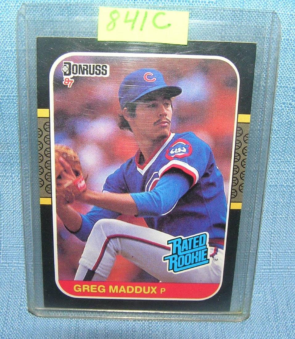 Vintage Greg Maddux rookie baseball card