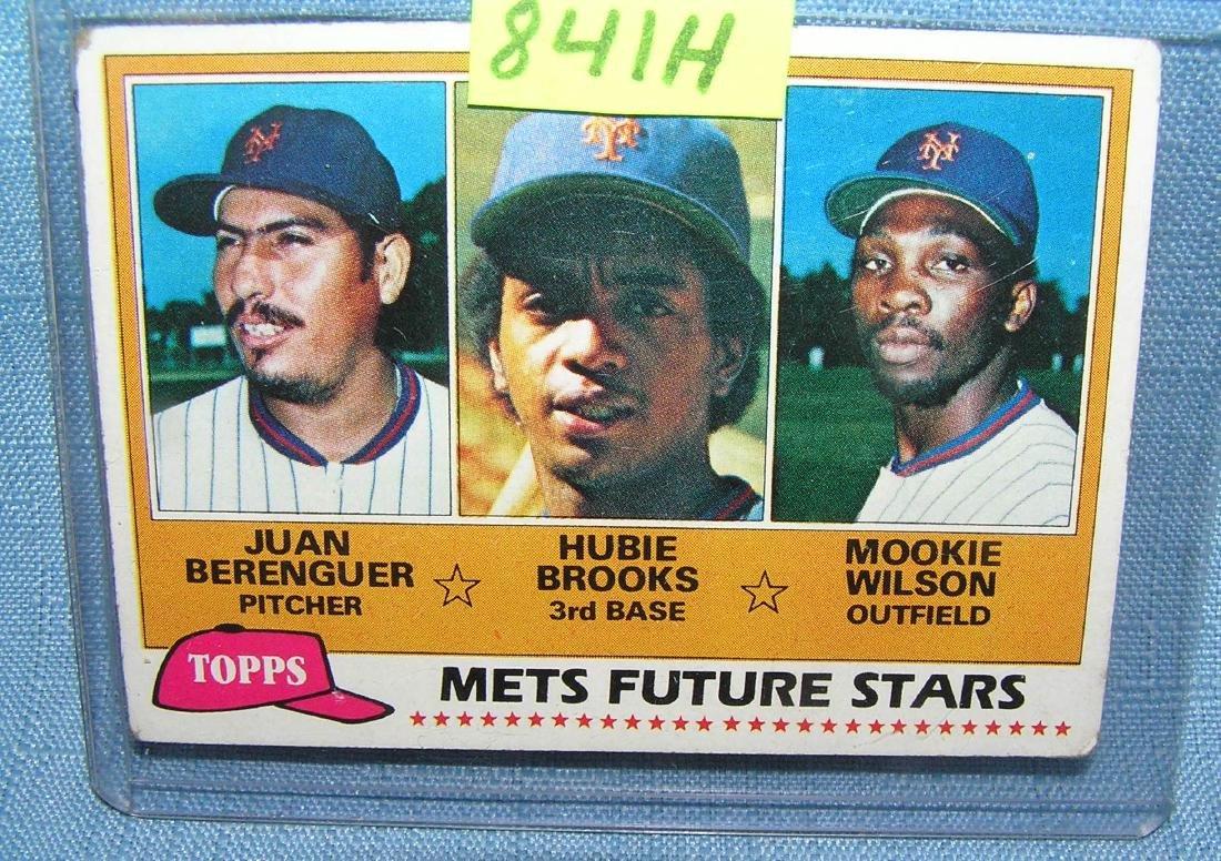 Vintage Moookie Wilson and Hubie Brooks rookie baseball