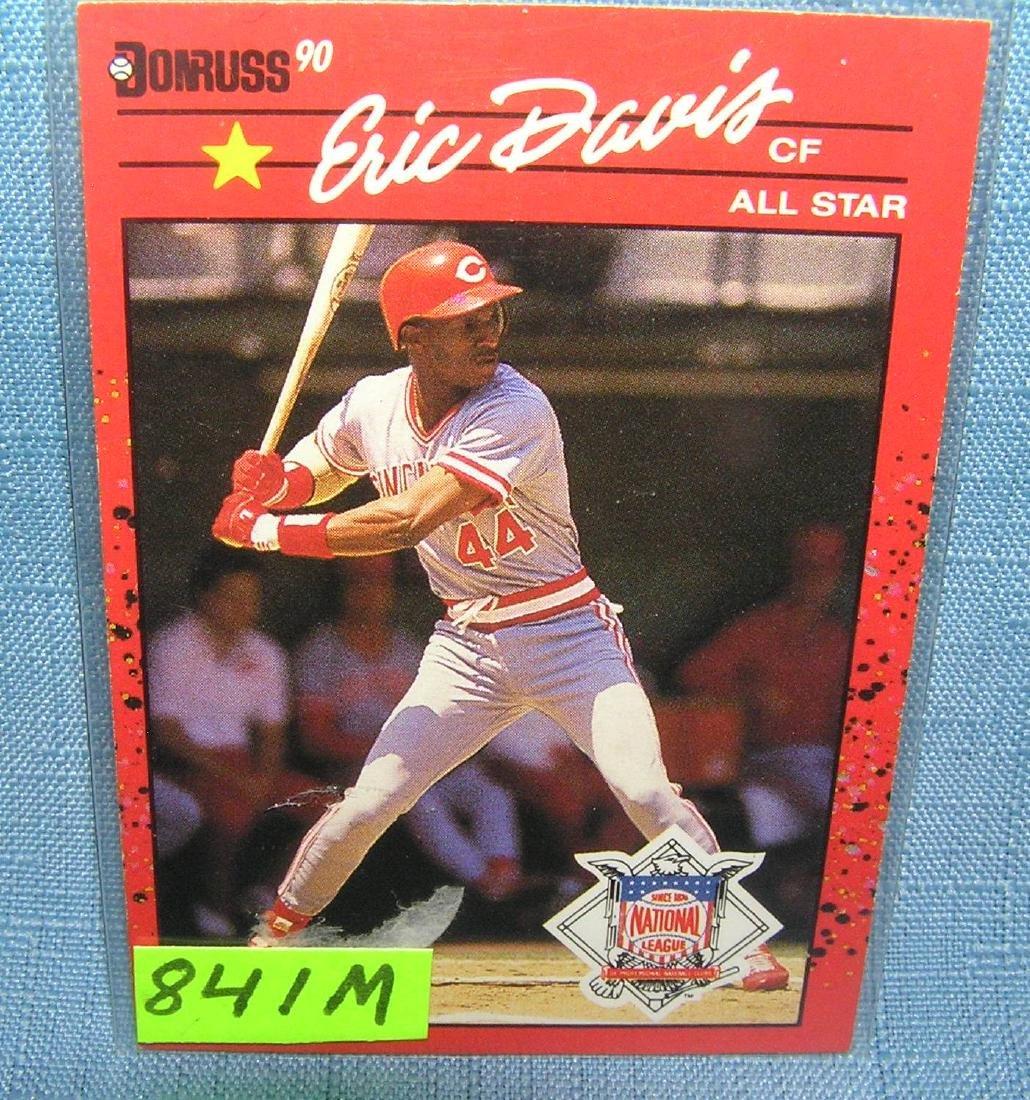 Vintage Eric Davis rookie baseball card
