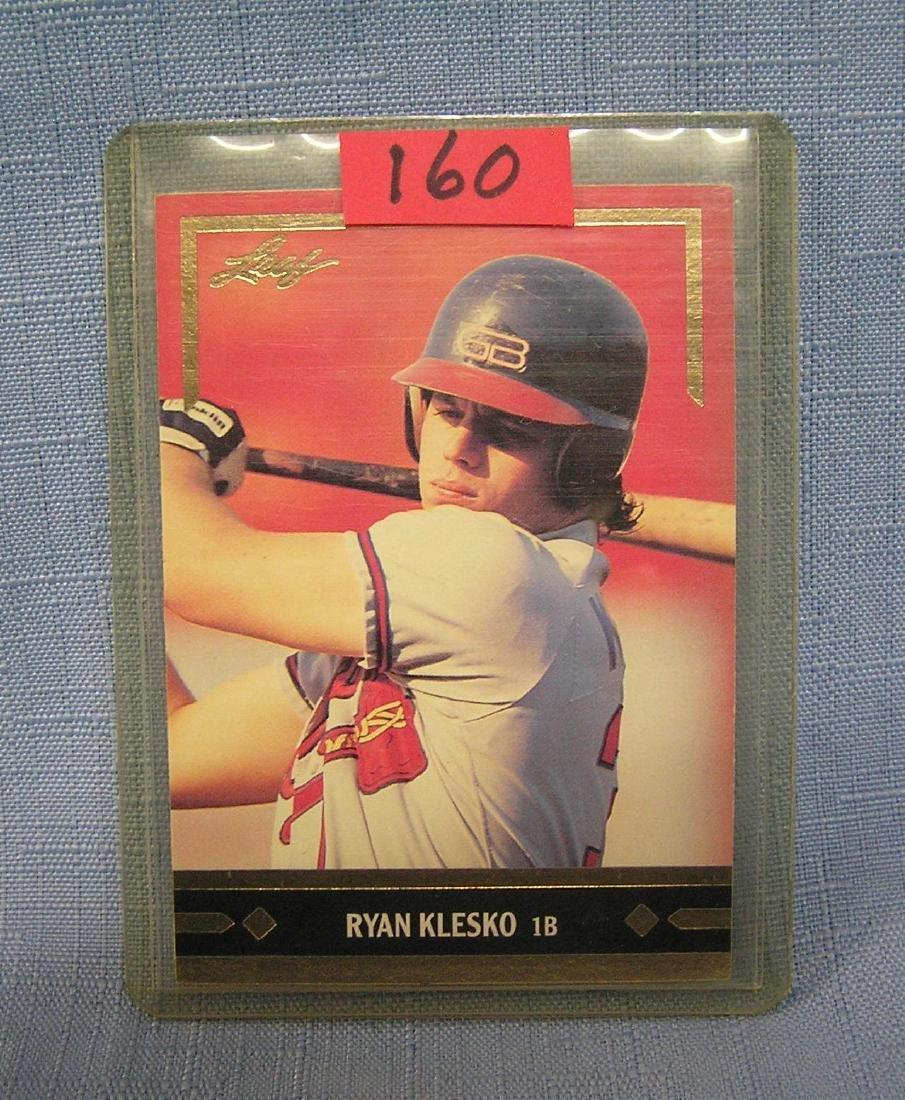 Vintage Ryan Klesko rookie baseball card