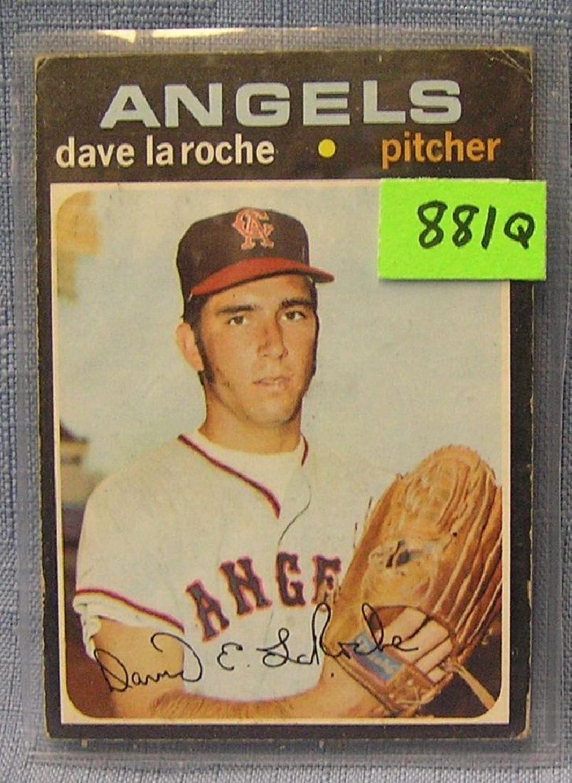Vintage Dave LaRoche rookie baseball card