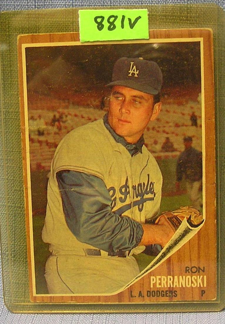 Vintage Ron Perranoski rookie baseball card