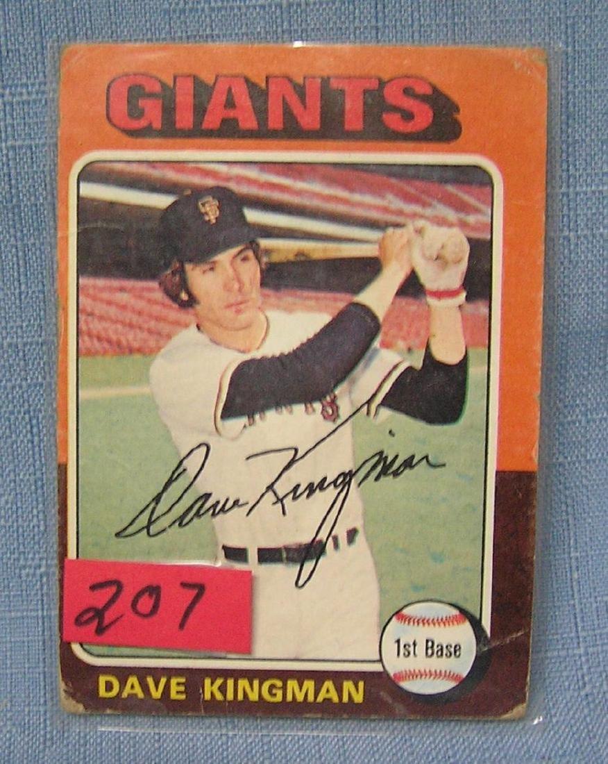 Vintage Dave Kingman baseball card
