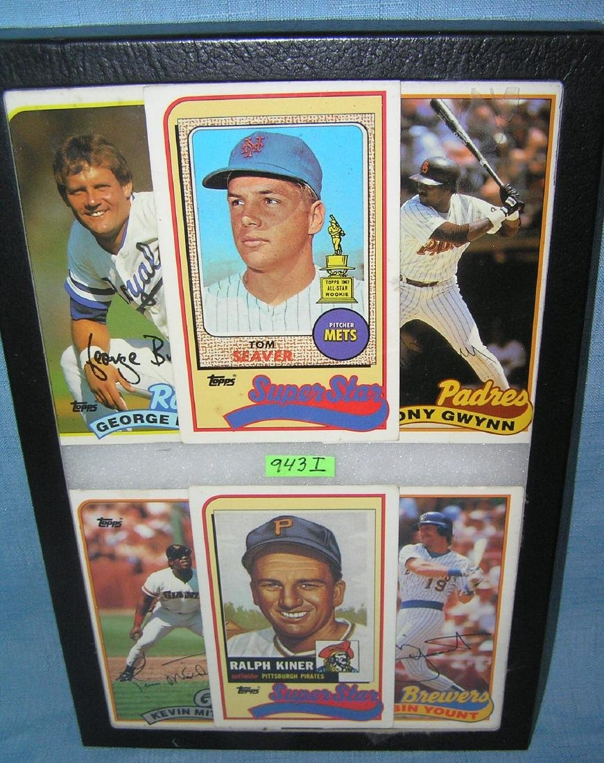 Group of oversized all star baseball cards