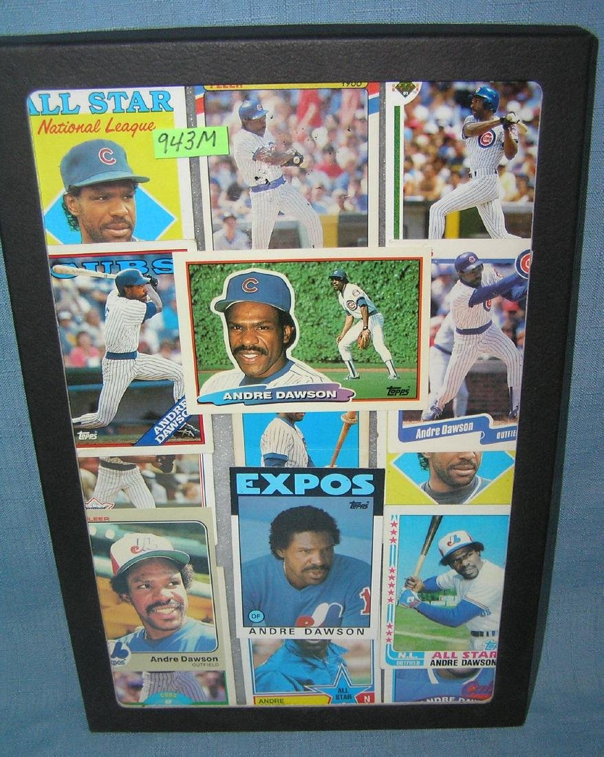 Collection of vintage Andre Dawson all star baseball