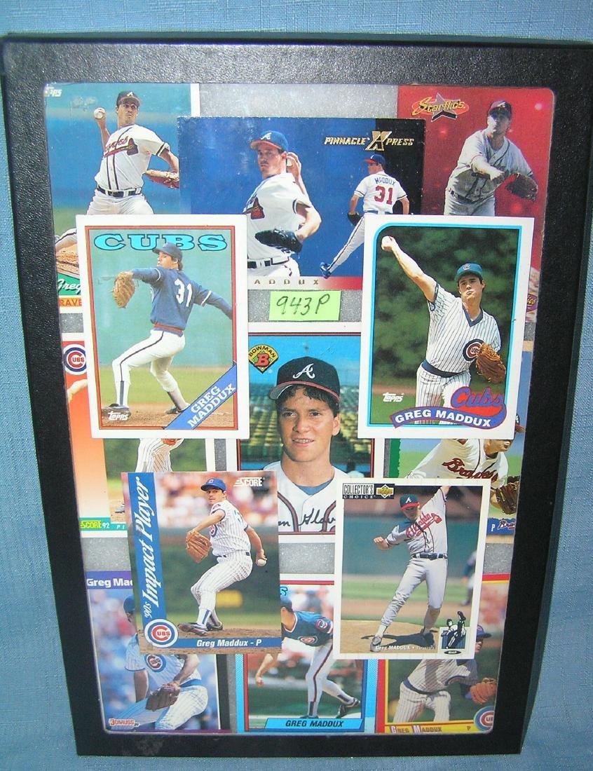 Collection of vintage Greg Maddux all star baseball