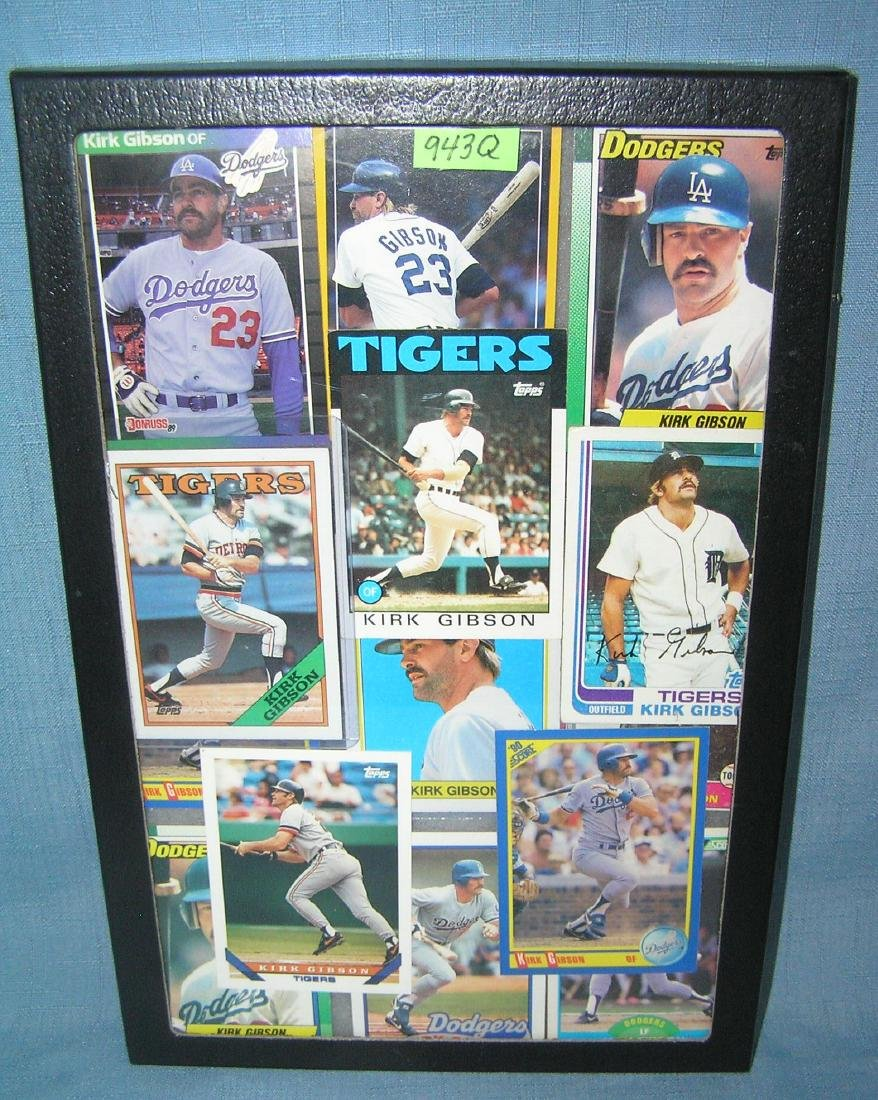 Collection of vintage Kirk Gibson all star baseball