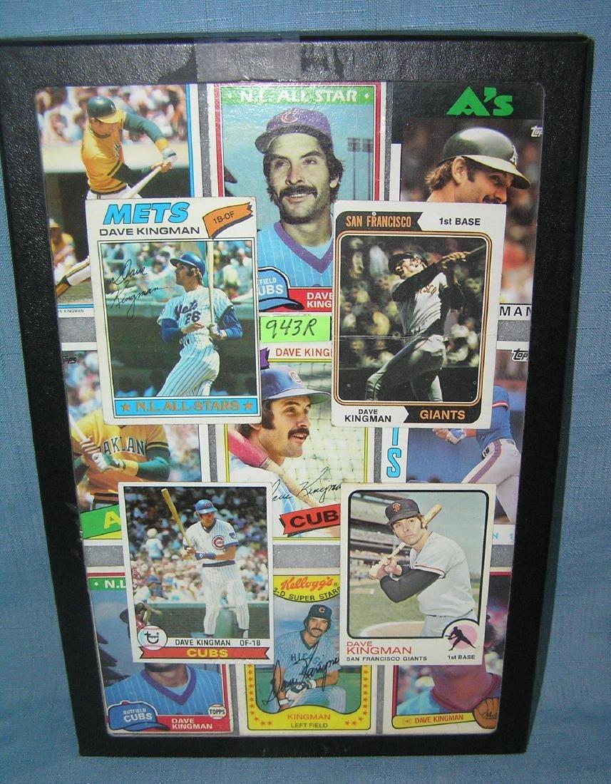 Collection of vintage Dave Kingman all star baseball