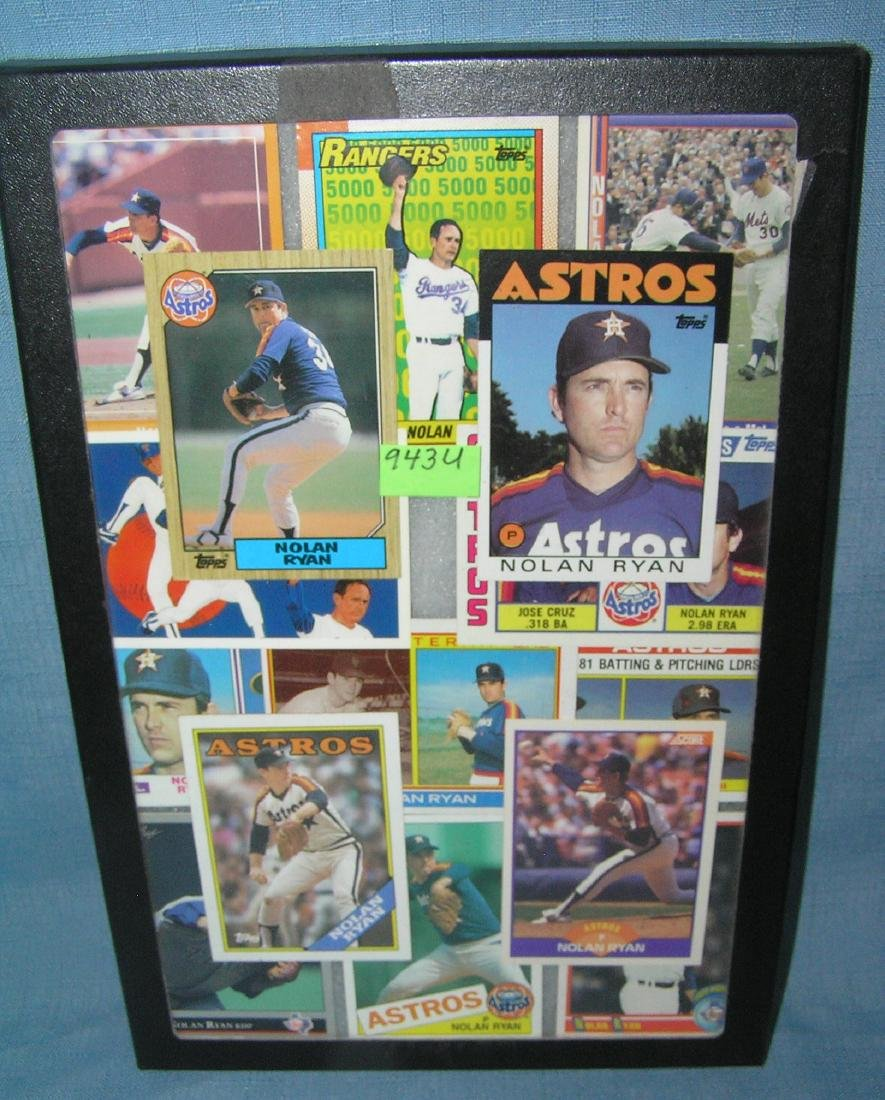 Collection of vintage Nolan Ryan all star baseball