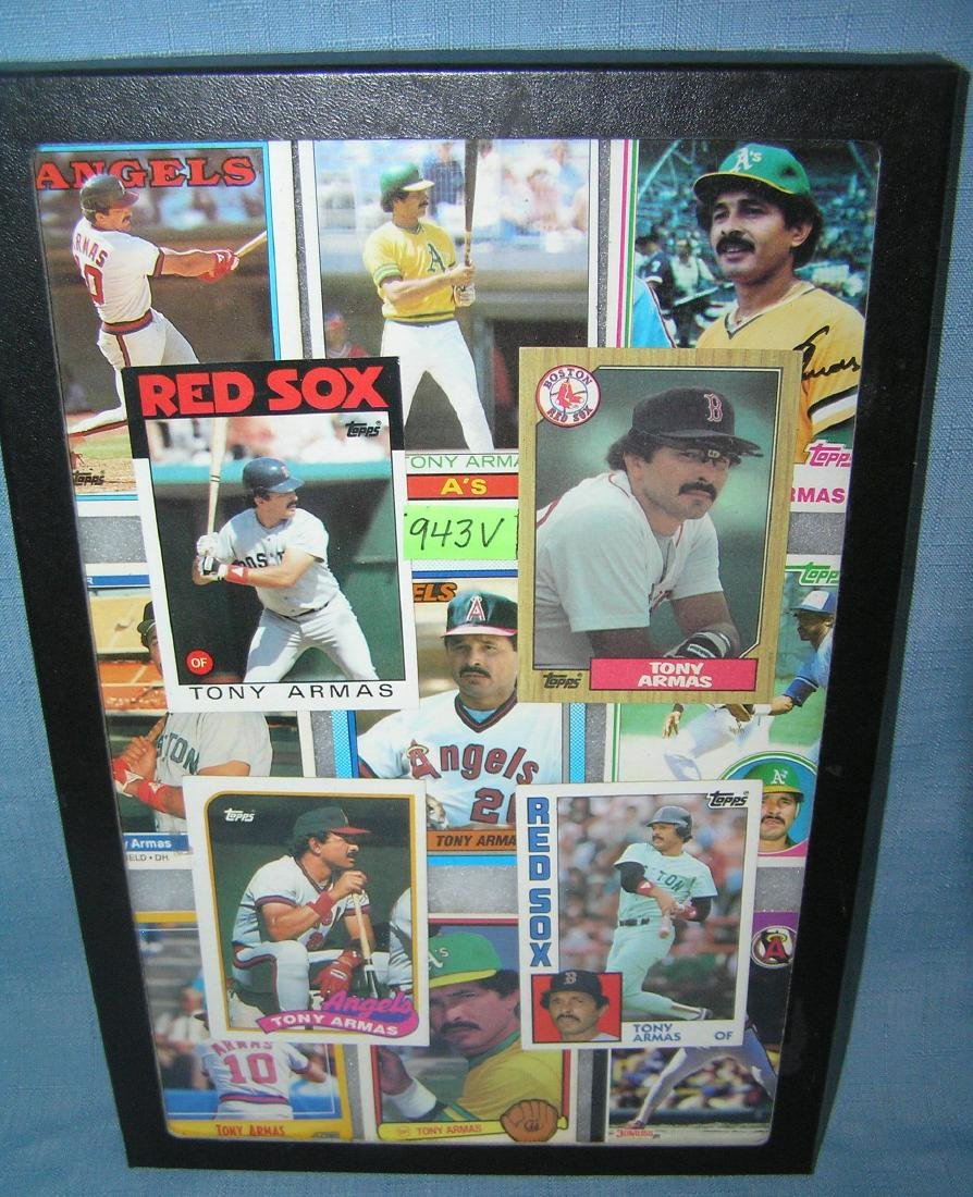 Collection of vintage Tony Armas all star baseball