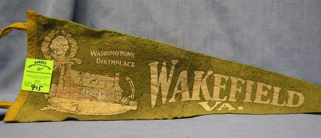 George Washington's birthplace felt banner