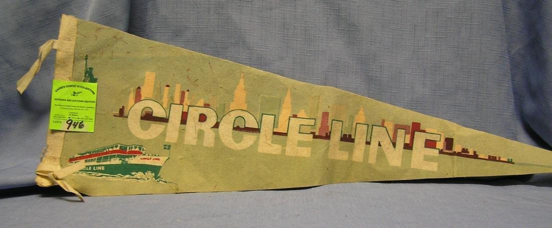 New York Circle line felt banner