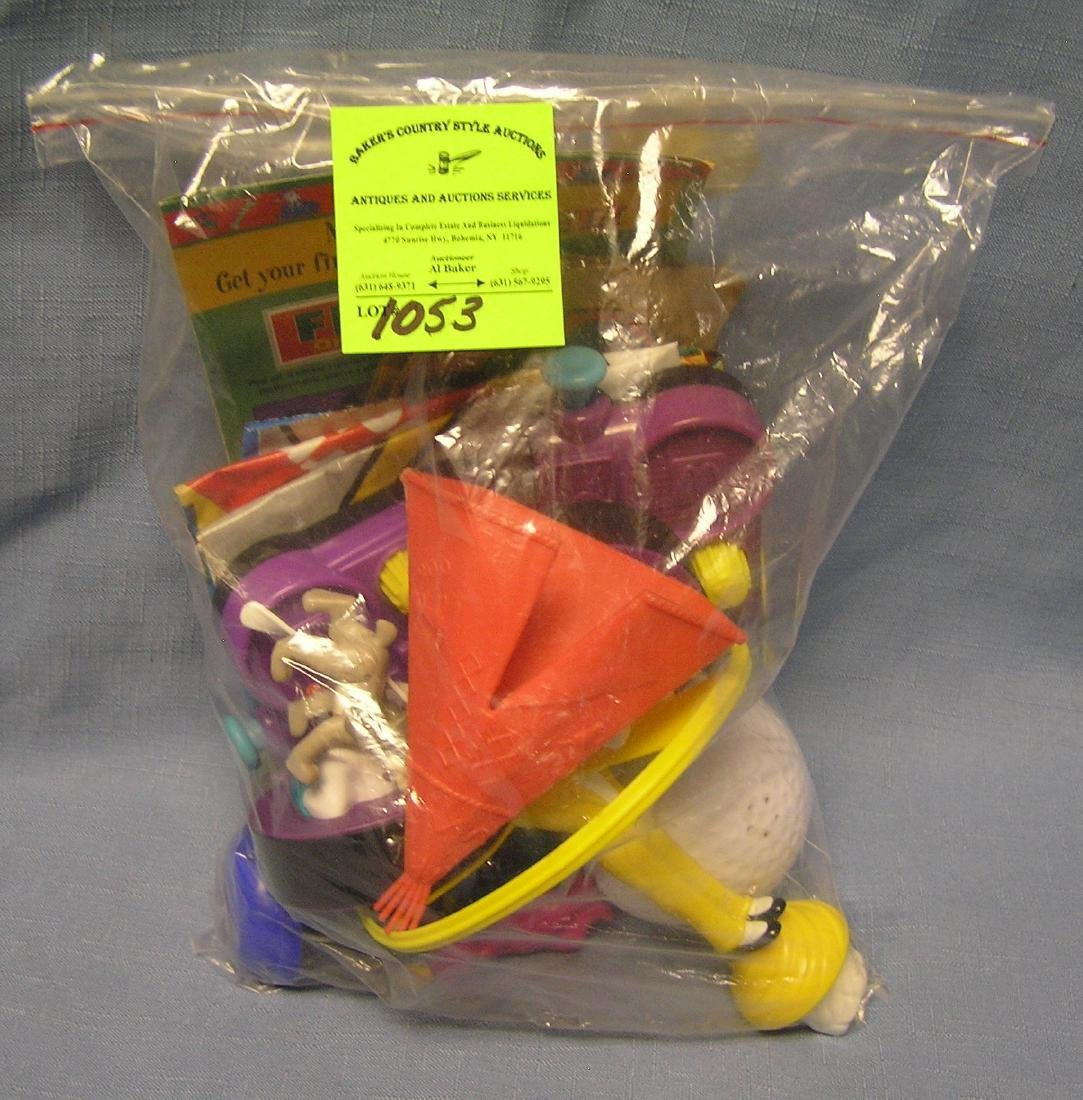 Bag of vintage toys and collectibles