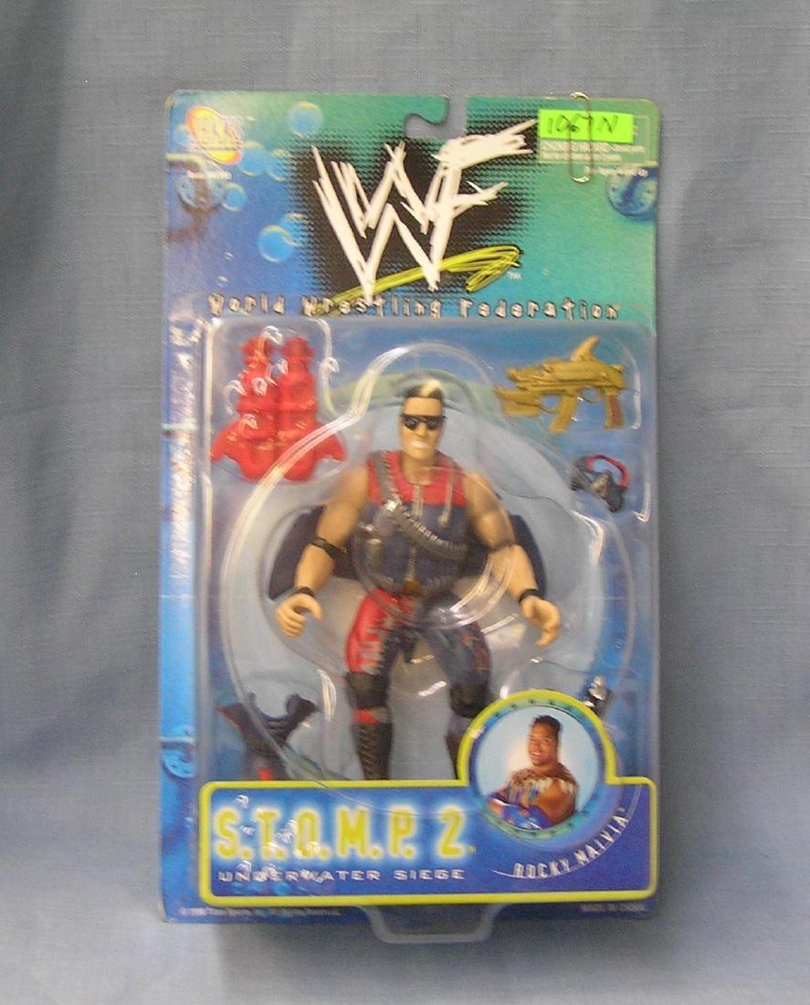 Vintage WWF wrestling figure Rocky Maidia