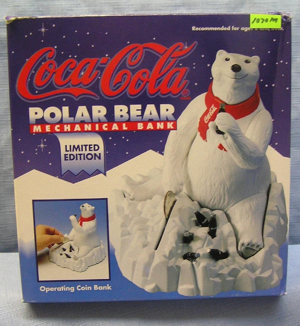 Coca Cola mechanical polar bear bank
