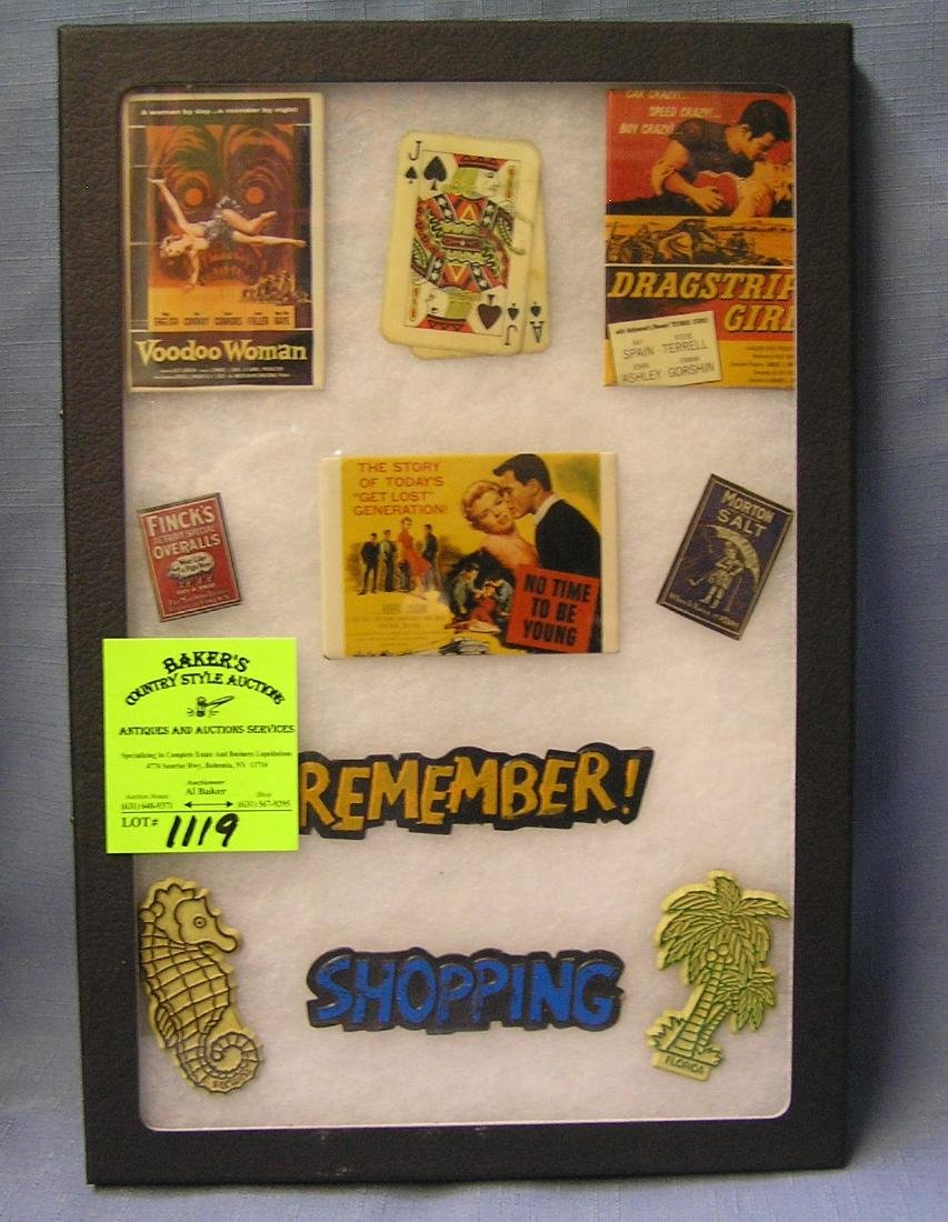 Collection of vintage advertising magnets