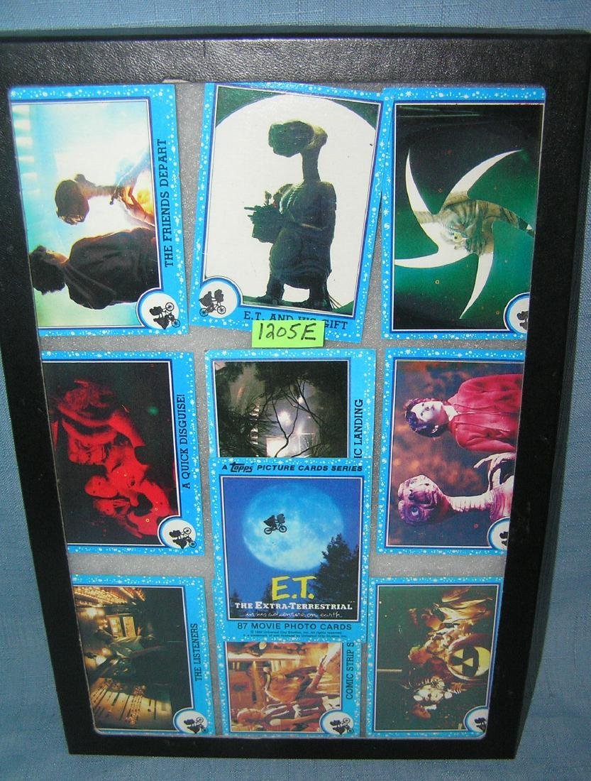 Group of vintage ET collector cards