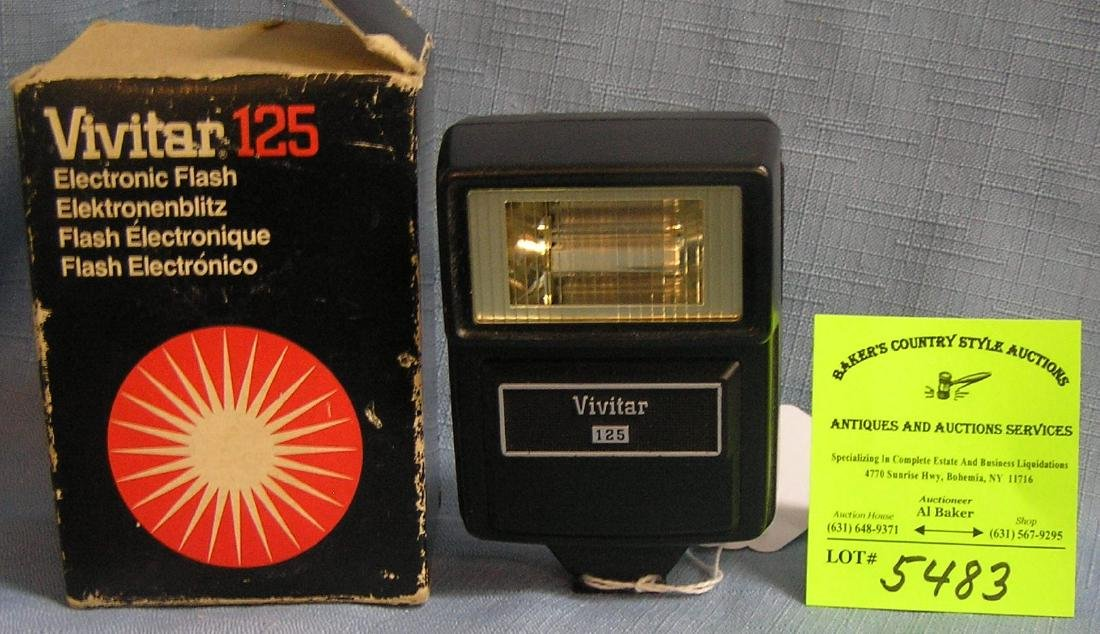 Vivitar 125 electronic flash in original box