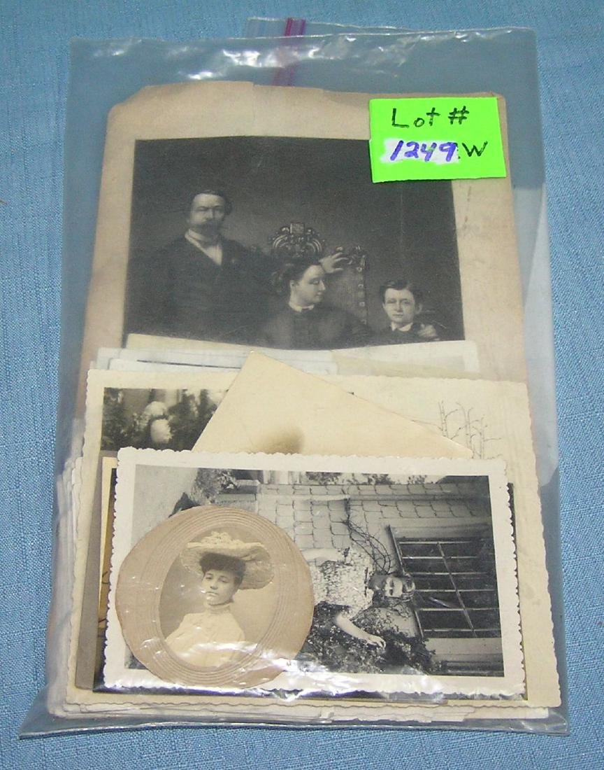 Bag of antique photographs