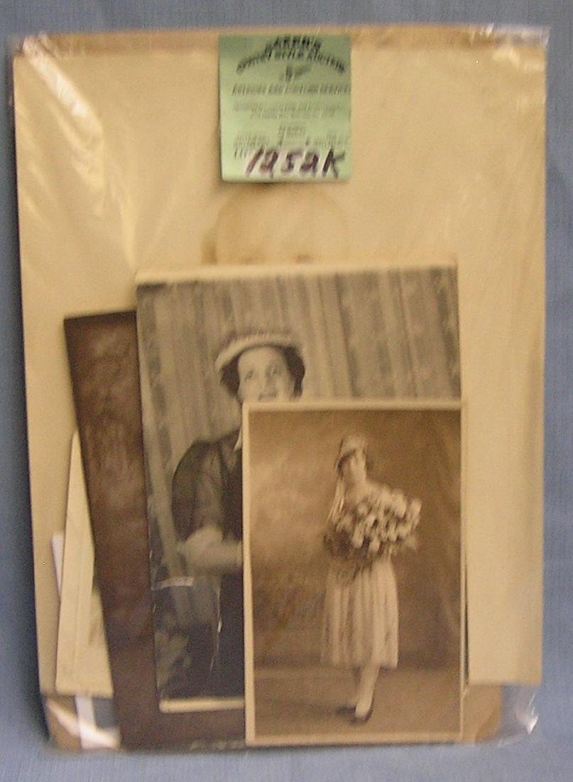 Group of vintage photos including some studio