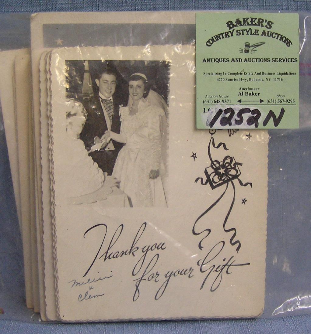 Group of vintage wedding photos