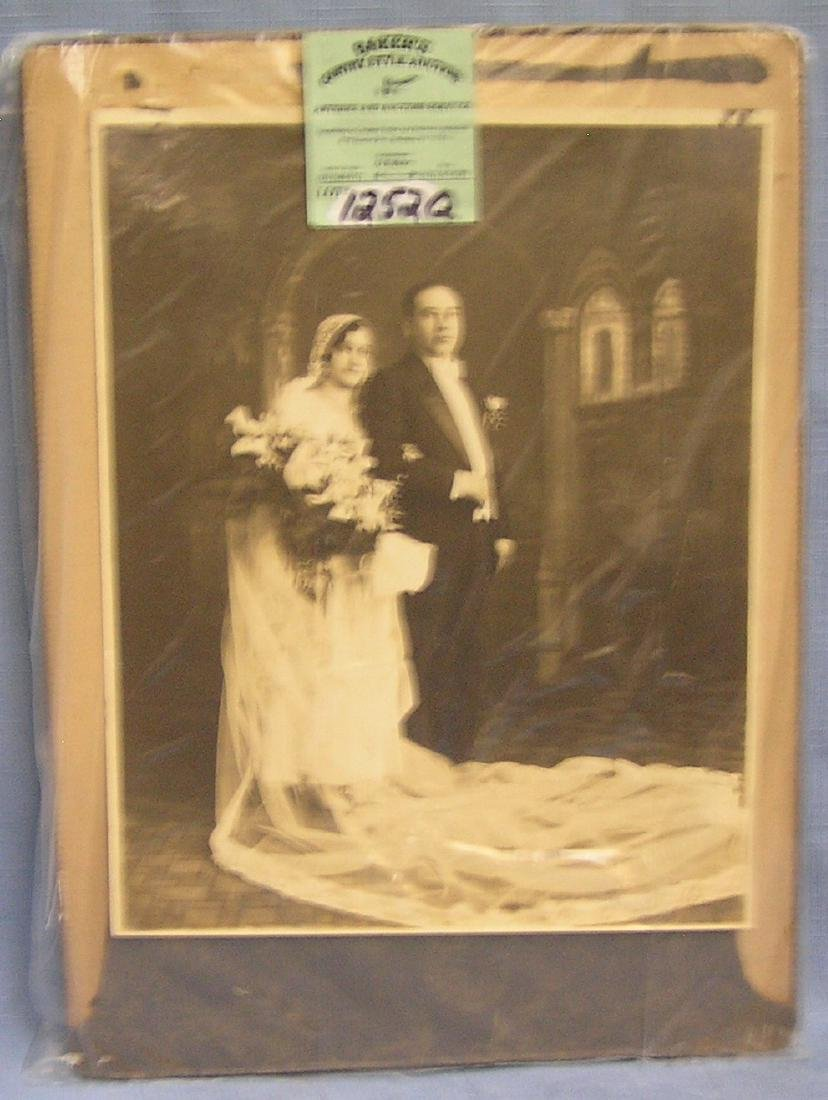 Group of vintage and antique wedding photos