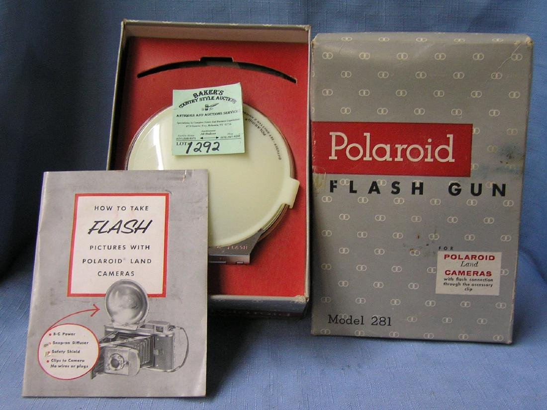 Vintage Polaroid flash gun with original box
