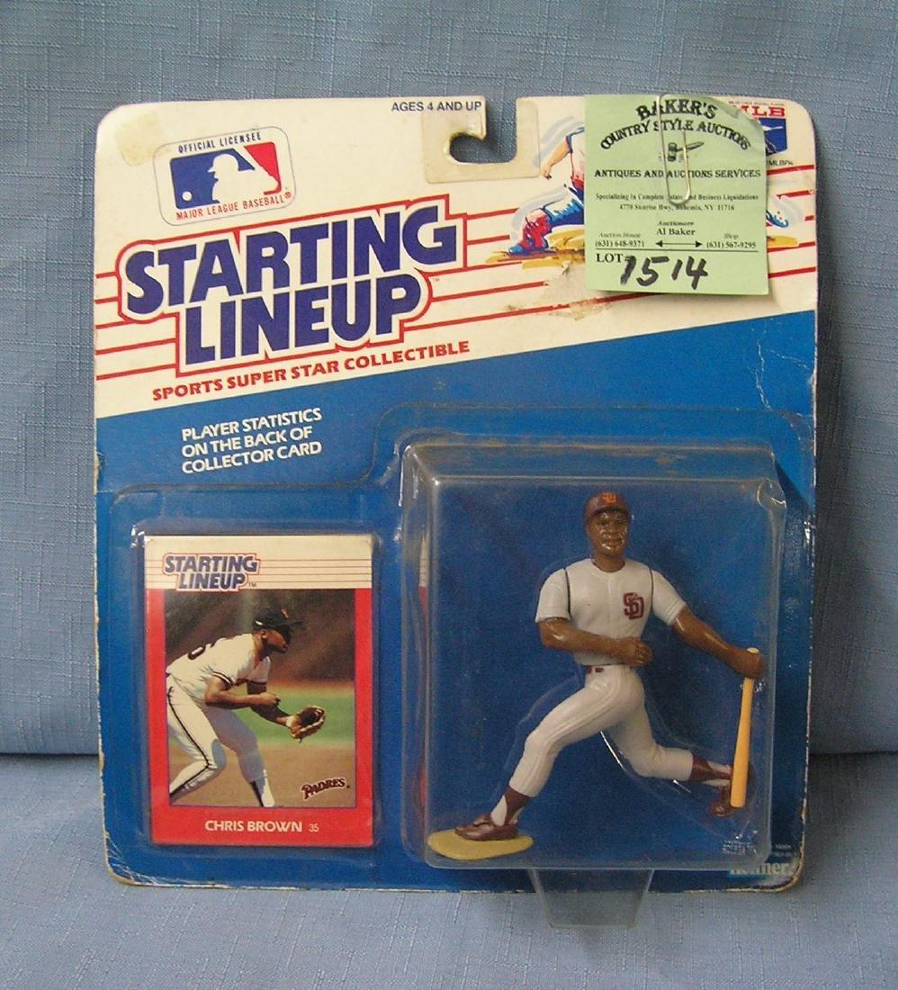 Vintage Chris Brown baseball action figure