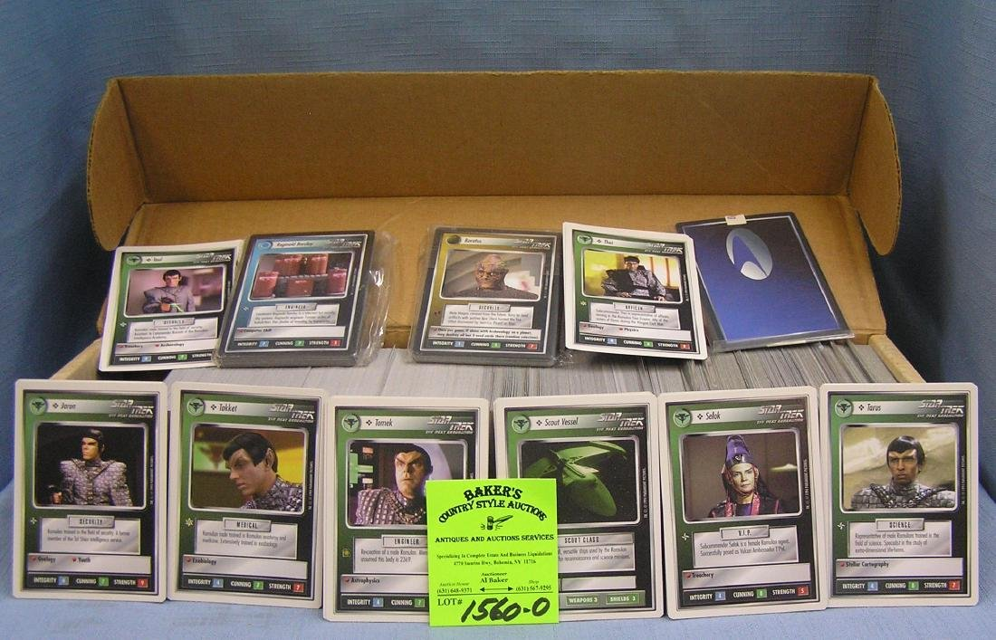 Box full of 1995 Star Trek collector cards