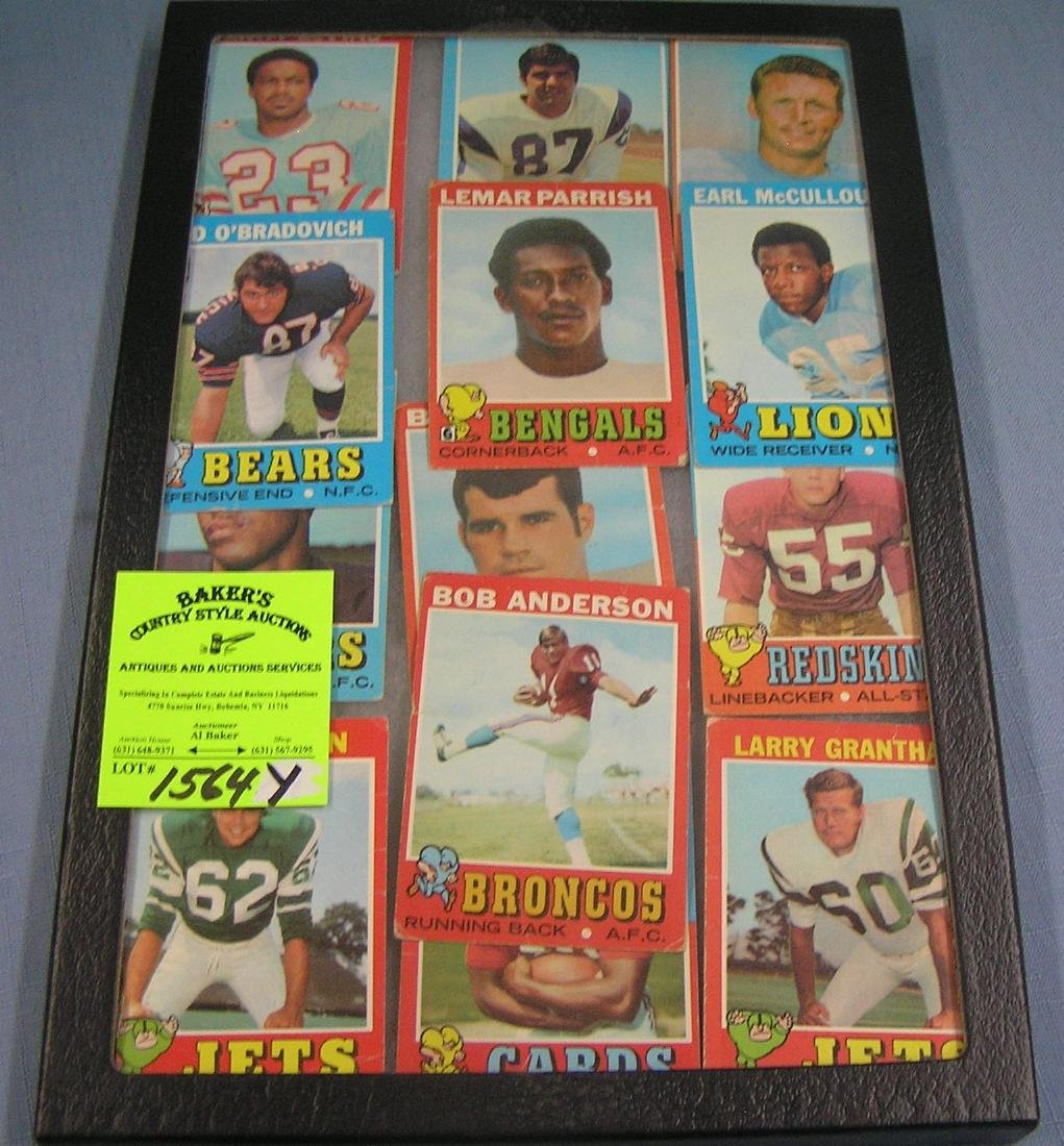 Group of vintage Topps all star Football cards