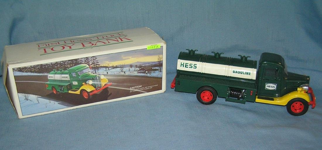 Vintage Hess first HESS delivery tanker truck bank